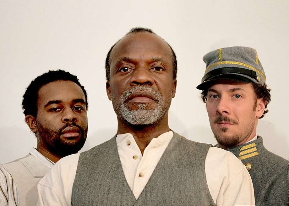 "Tobie Windham (left), Peter Callender and Nicholas Pelczar star in Matthew Lopez's Civil War drama ""The Whipping Man"" at Marin Theatre Company. Photo: Virginia Stage Company"