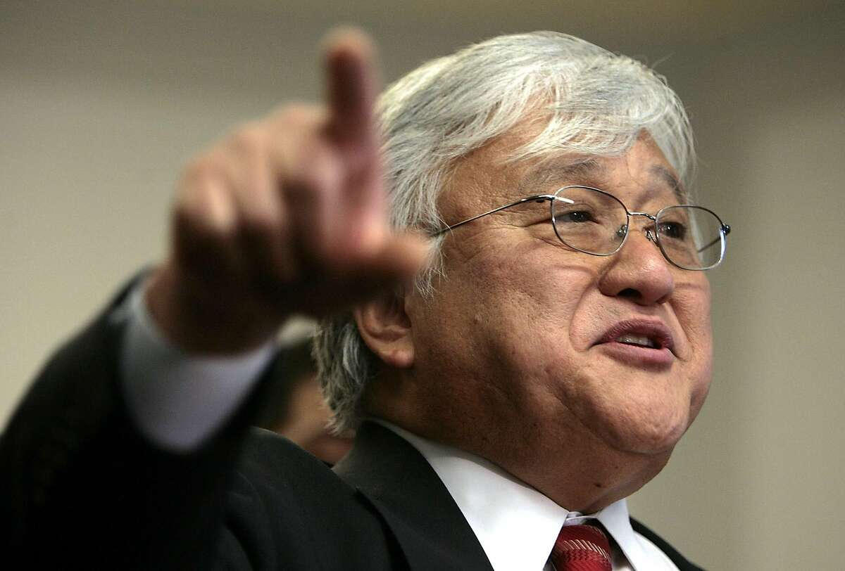 WASHINGTON - MARCH 14: Rep. Mike Honda, Chair of the Congressional Asian Pacific American Caucus, speaks during a press conference on Capitol Hill March 14, 2006 in Washington, DC. Honda joined Members of Congress, civil rights leaders, faith leaders and Hurricane Katrina survivors to call on the Bush Administration and Congress to halt the March 15 eviction of some 10,000 hurricane survivors that are living in hotels across the country. They also demanded that the Voting Rights Act be enforced and call off the upcoming election in New Orleans, and to pass HR 4197,