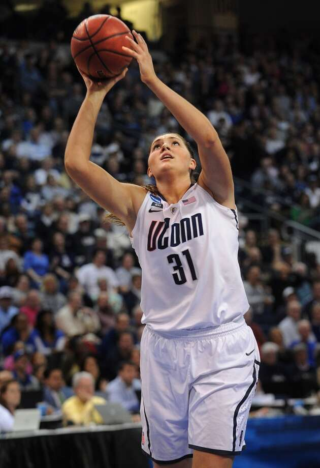UConn's Stefanie Dolson drives to the basket during their 83-53 victory over Kentucky in the elite eight round of the NCAA Women's Basketball Tournament at the Webster Bank Arena in Bridgeport, Conn. on Monday, April 1, 2013.