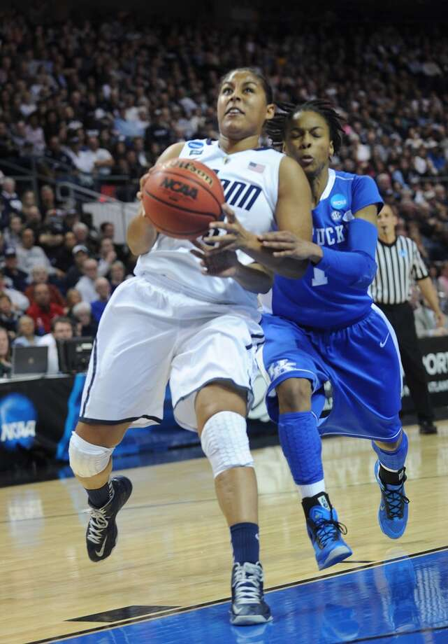UConn v. Kentucky in the elite eight round of the NCAA Women's Basketball Tournament at the Webster Bank Arena in Bridgeport, Conn. on Monday, April 1, 2013.