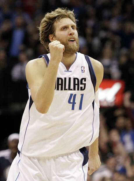 Dirk Nowitzki is playing like his old self after missing the first 27 games because of knee surgery. Photo: Brandon Wade / Associated Press