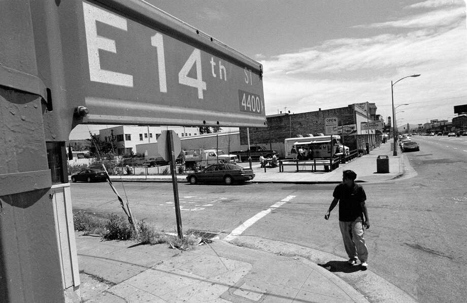 You still call it East 14th. (Now International Blvd.) Photo: BRANT WARD