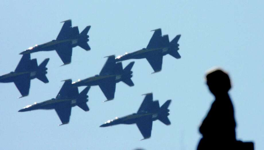 The Blue Angels will not be flying over San Francisco this October due to federal budget cuts. Photo: Deanne Fitzmaurice, The Chronicle / San Francisco Chronicle