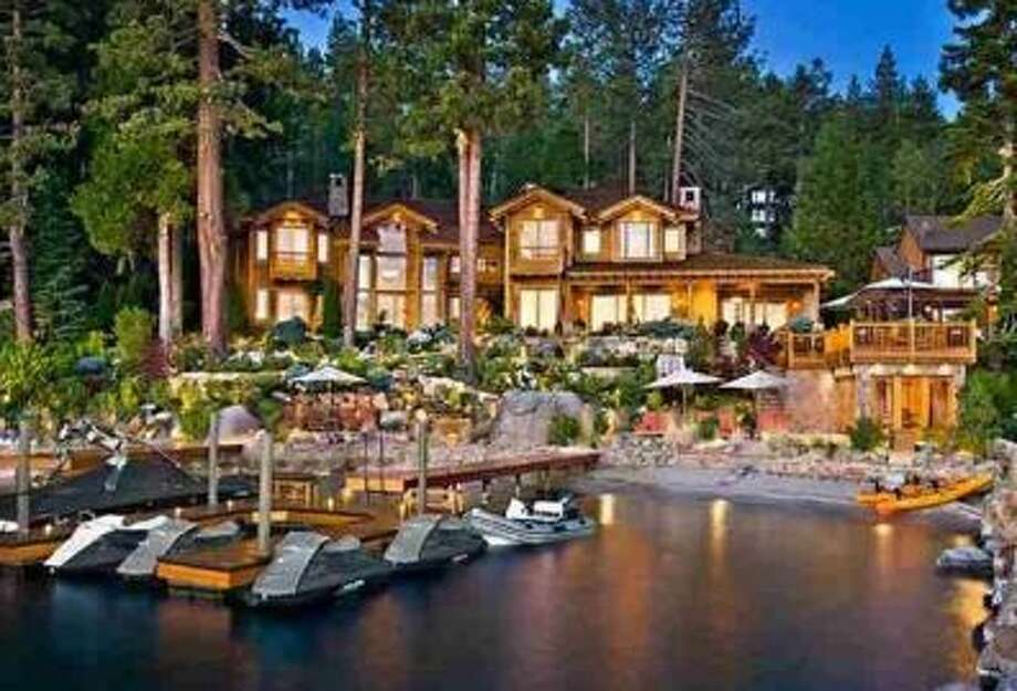 Main house of the 3 property Lake Tahoe estate