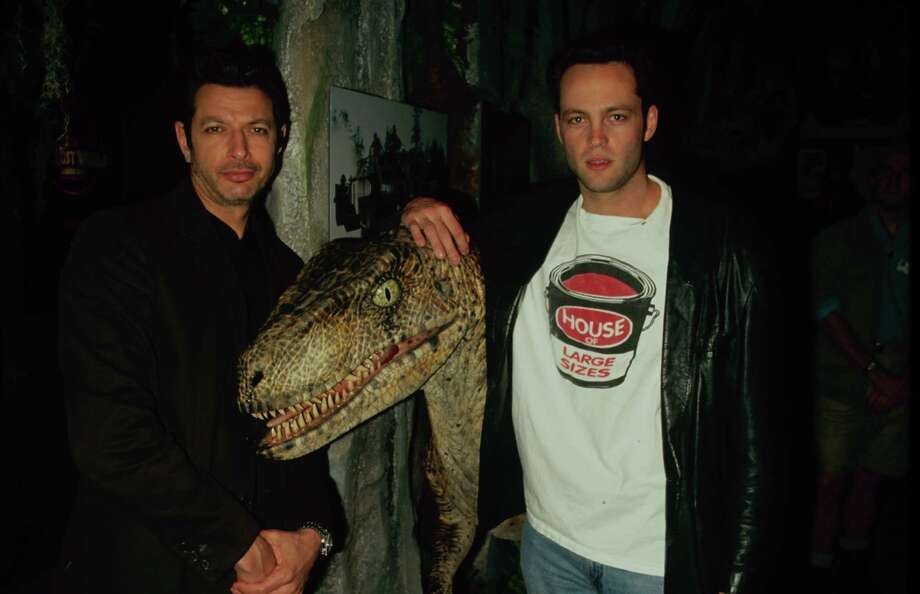 Actors Jeff Goldblum and Vince Vaughn at a 'The Lost World: Jurassic Park' event. Photo: Time & Life Pictures, Time Life Pictures/Getty Images / Time & Life Pictures
