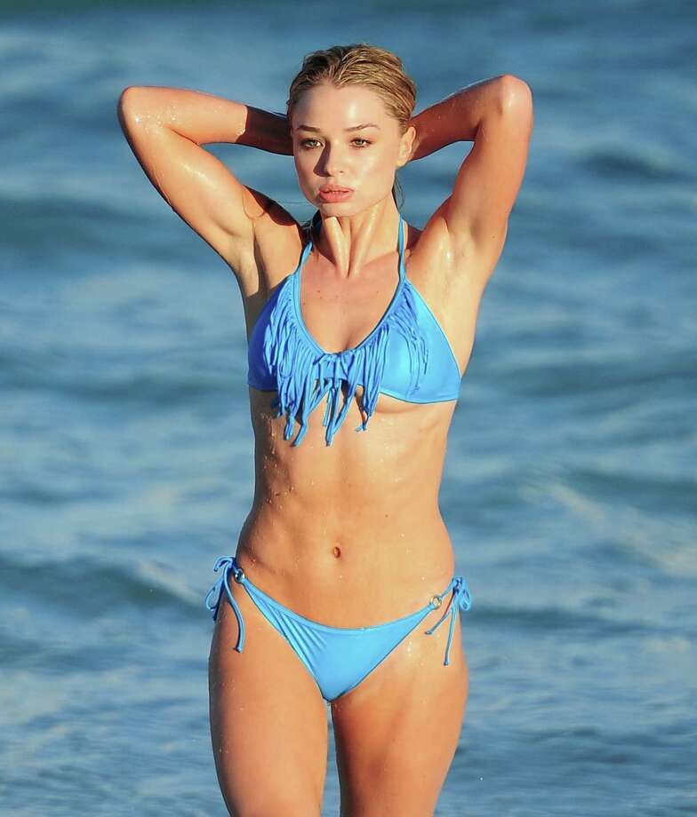 Emma Rigby, Miami Beach, 2013. Photo: Alo Ceballos, Getty Images / 2013 Alo Ceballos