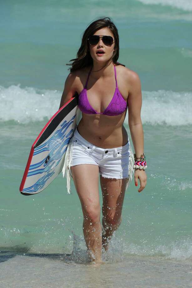 Lucy Hale, Miami Beach, 2012. Photo: Larry Marano, Getty Images / 2012 Larry Marano
