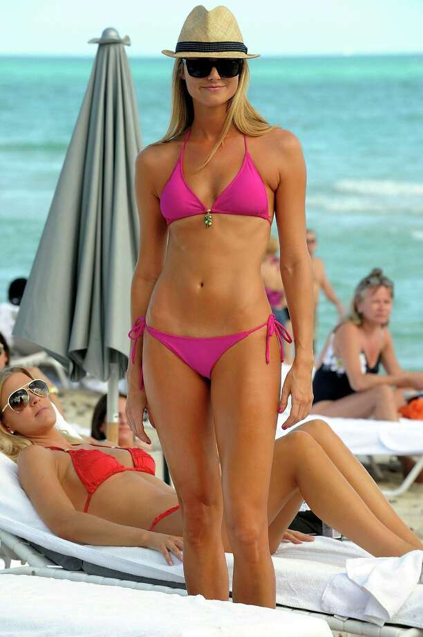 Stacy Keibler, Miami Beach, 2009. Photo: Gustavo Caballero, Getty Images / 2009 Gustavo Caballero