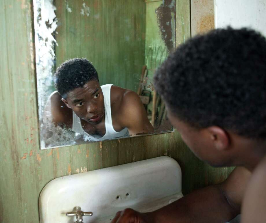 "Chadwick Boseman as Jackie Robinson in ""42."" Photo: D. Stevens, Warner Brothers / © 2013 Legendary Pictures Productions LLC"