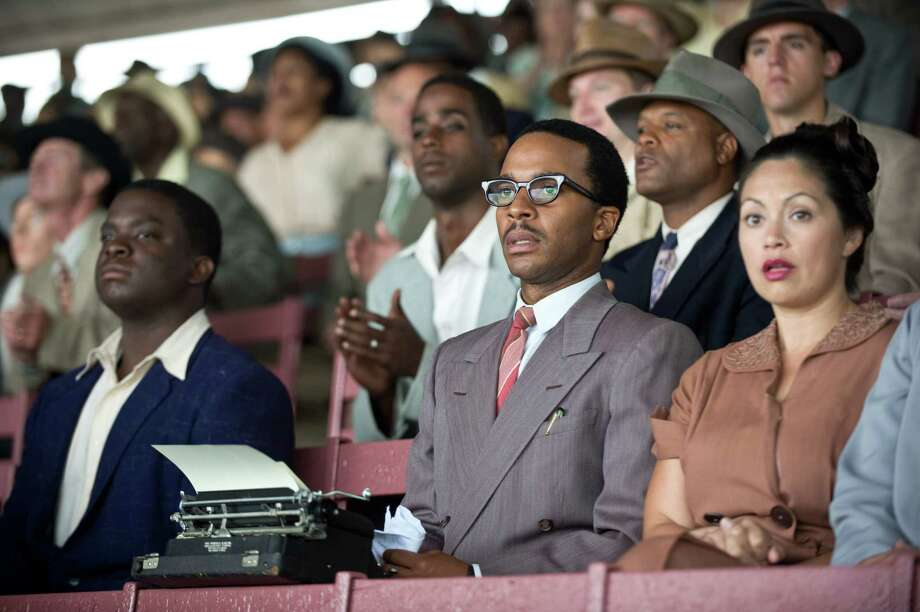 "Andre Holland as Wendell Smith in ""42."" Photo: D. Stevens, Warner Brothers / © 2013 Legendary Pictures Productions LLC"