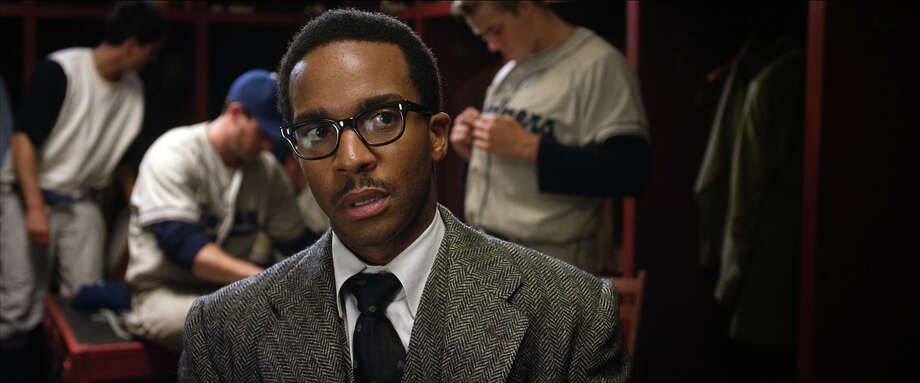 "Andre Holland as Wendell Smith in ""42."" Photo: Courtesy Of Warner Bros. Picture, Warner Brothers / © 2013 Legendary Pictures Productions LLC"