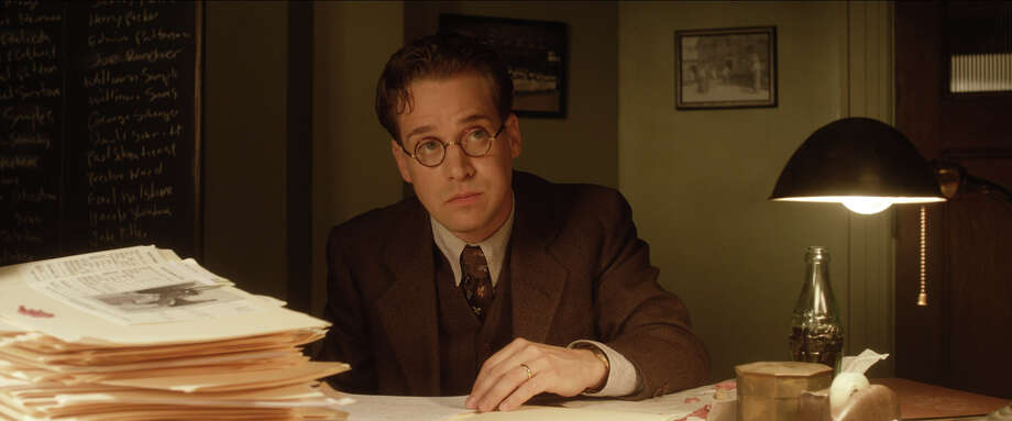 "T.R. Knight as Harold Parrott in ""42."" Photo: Courtesy Of Warner Bros. Picture, Warner Brothers / © 2013 Legendary Pictures Productions LLC"