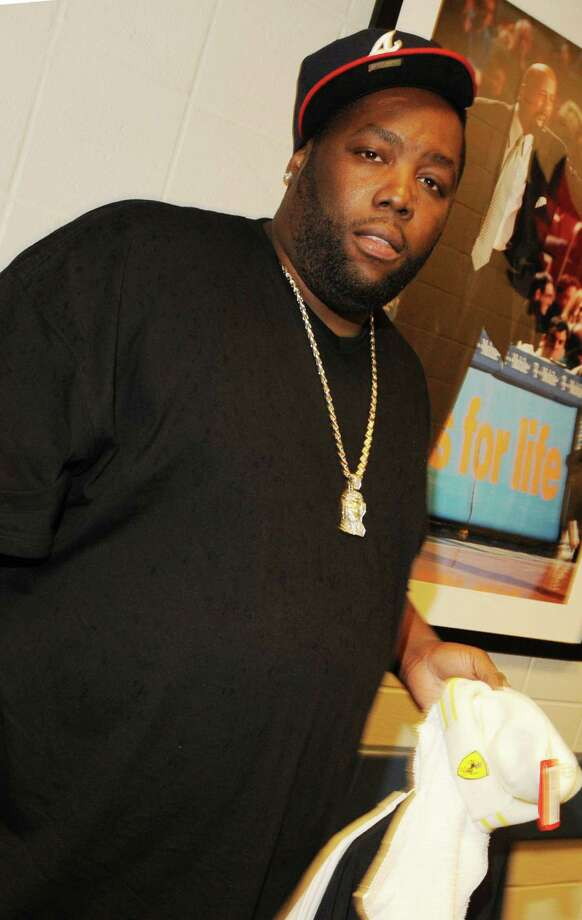 Rapper Killer Mike, pictured backstage at the Philips Arena on May 24, 2009 in Atlanta, Ga. Photo: Rick Diamond, Getty Images / 2009 Getty Images