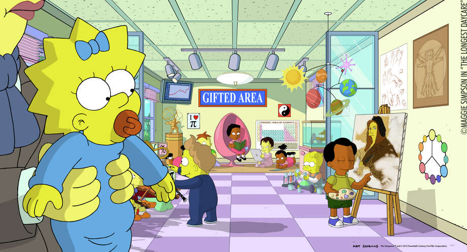 """Maggie Simpson's The Longest Daycare"" will be screened as part of The Brookfield Film Festival this weekend. It was nominated for an Academy Award this year, and tells the story of Maggie's day at the Ayn Rand School for Tots. Photo: Contributed Photo"