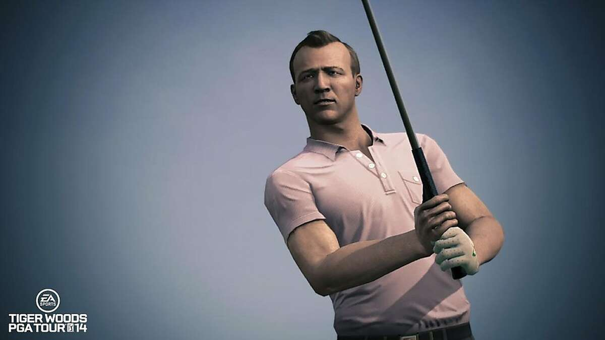 A younger version of golfer Arnold Palmer is among the legends featured in Tiger Woods PGA Tour 2014, a new golfing game by Electronic Arts.