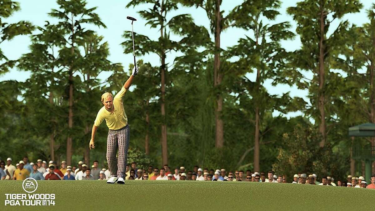 Golfing legend Jack Nicklaus is among the legends featured in Tiger Woods PGA Tour 2014, a new golfing game by Electronic Arts.