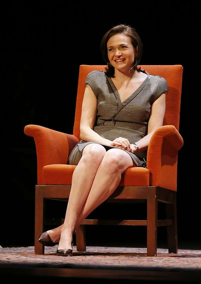 Facebook COO Sheryl Sandberg speaks during an on stage conversation for City Arts and Lectures on Monday, April 1 in San Francisco, Californina. Photo: Beck Diefenbach, Special To The Chronicle