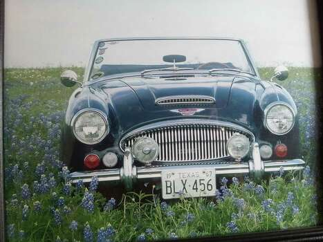 A classic car in the bluebonnets. Photo: Reader Submission