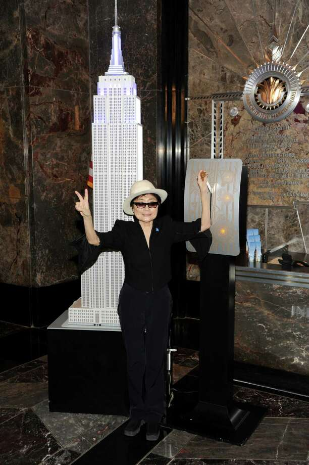 Global autism ambassador Yoko Ono lights the Empire State Building to help celebrate autism awareness month on Tuesday April 2, 2013 in New York. Photo: Evan Agostini, Associated Press / Invision