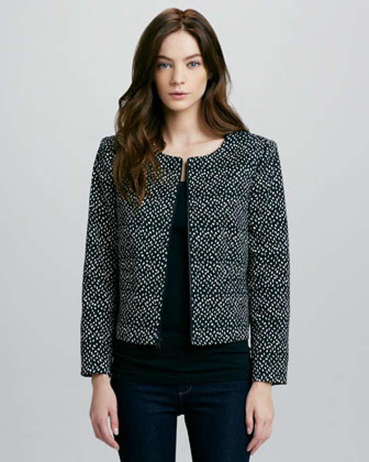 Alice + Olivia Nara C\cropped box jacket, $440, via Neiman Marcus.