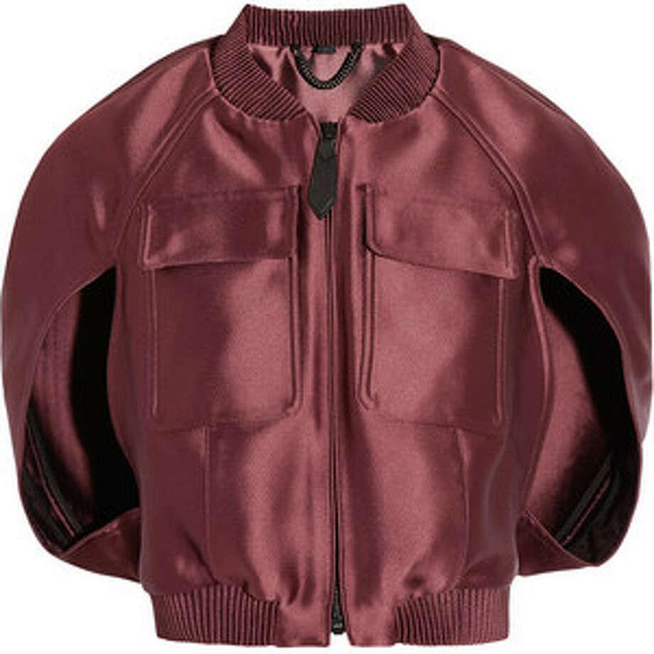 Burberry Prorsum satin bomber jacket, $1,595, via Net-a-porter.com.