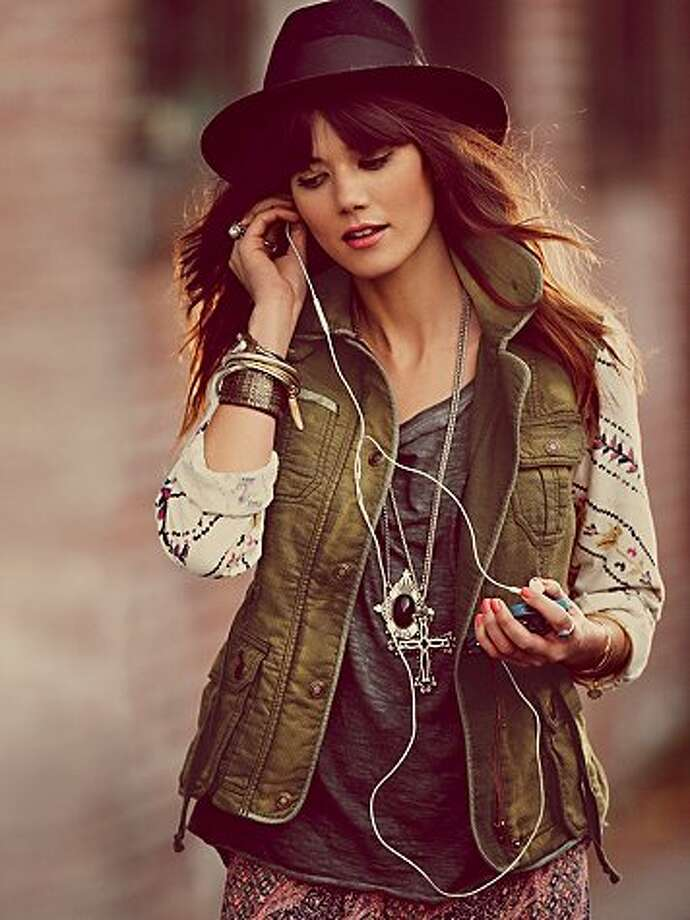 Free People cargo jacket, $168, via Freepeople.com.