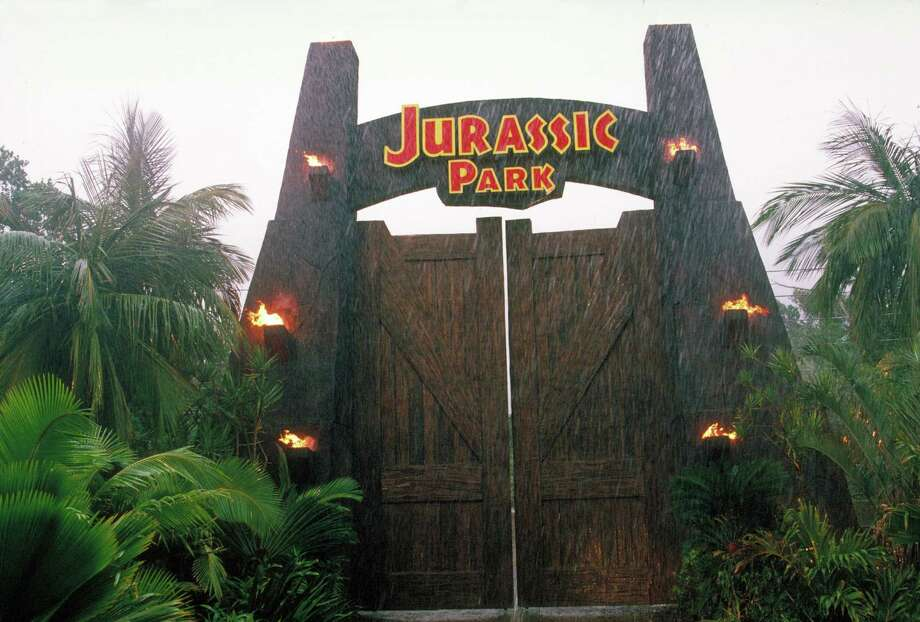 The gateway to the eponymous theme park, from the film 'Jurassic Park.' Photo: Murray Close, Getty Images / 2011 Murray Close