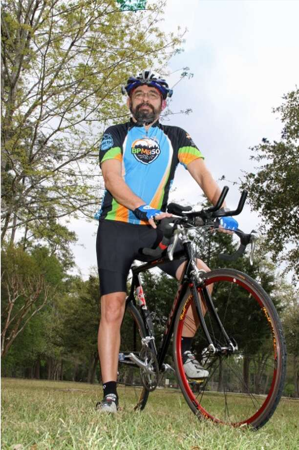 Spring Branch resident Steven Wiens rides to honor his wife's courage in living with multiple sclerosis. Photo: Handout