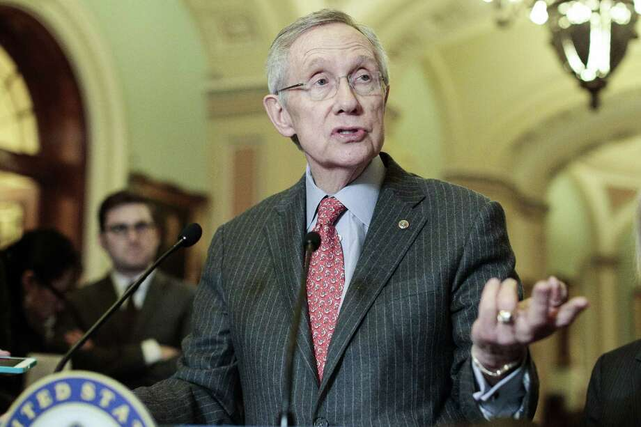 Senator Harry Reid, D-Nev., has exhibited a lack of leadership by running from a vote on legislation to ban assault weapons. Photo: Getty Images
