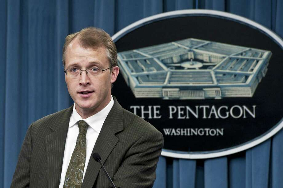 "Pentagon Press Secretary George Little said the recent continuing funding resolution provides the Defense Department with ""limited flexibility"" to make $46 billion in mandatory spending cuts. Photo: DOD"