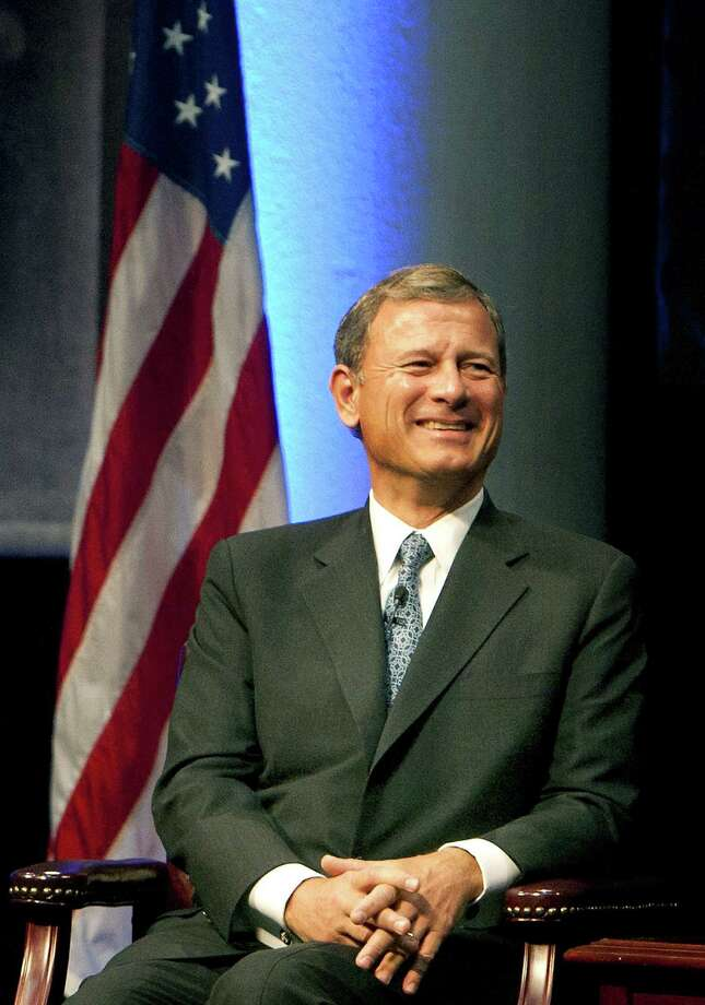 U.S. Supreme Court Chief Justice John Roberts noted that politicians are lining up in support of gay marriage. But political winds change direction — unlike the Constitution. Photo: Cody Duty / Associated Press