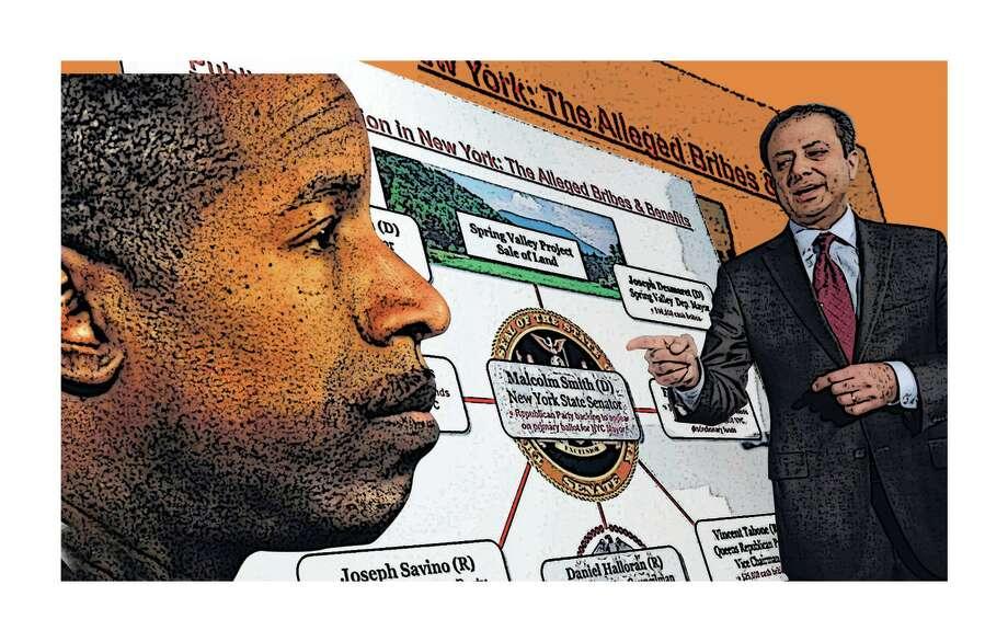 Photo illustration by Jeff Boyer/Times Union Photo: Richard Drew / AP