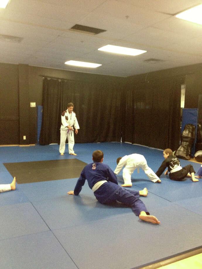 A Monday Night Tiny Titans youth jiu jitsu class