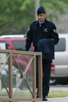 April 2, 2013: Staff Sgt. William Romero was given 30 days' hard labor, restricted to Joint Base San Antonio-Lackland another 30 days and reduced to airman after pleading guilty to charges that he had illicit relationships with four women and committed adultery. Read more: Lackland trainer, an Iraq vet, gets 60-day sentence Photo: JERRY LARA, San Antonio Express-News / © 2013 San Antonio Express-News