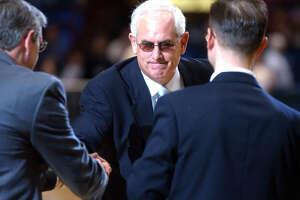 Mike Deane, Siena men's basketball coach 1986-1994. (Staff photo)