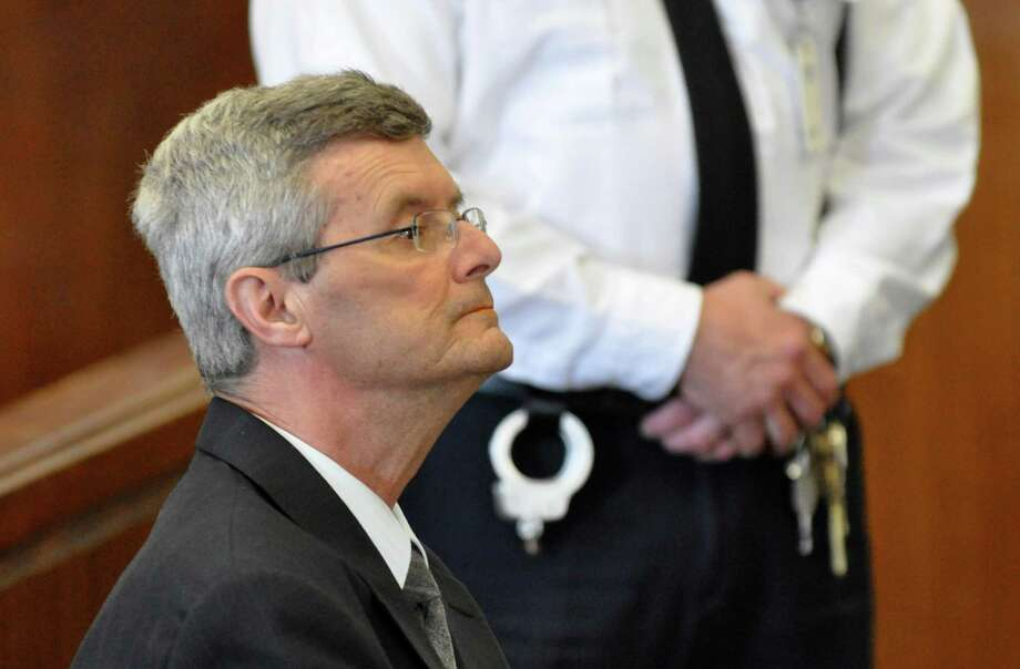 Gary Mercure, the New York priest convicted of raping two altar boys in the 1980s, is shown in Berkshire County Superior Court, on Thursday, Feb. 10, 2011, in Pittsfield, Mass.  (AP Photo/The Berkshire Eagle, Ben Garver) Photo: Ben Garver / AP2011