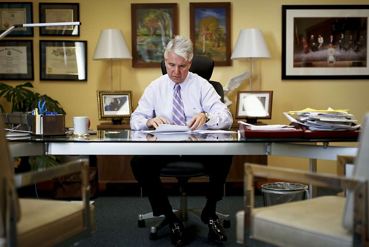 San Francisco District Attorney George Gascon is seen on Friday, March 22, 2013 in his Hall of Justice office in San Francisco, Calif.