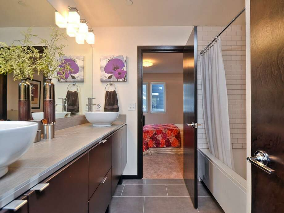 Bathroom of 512 25th Ave. S. The 1,617-square-foot house, built this year, has three bedrooms, 2.25 bathrooms, a balcony, a deck and a patio. It's listed for $459,950. Photo: Courtesy      Kerri Donovan/Keller Williams Seattle Metro