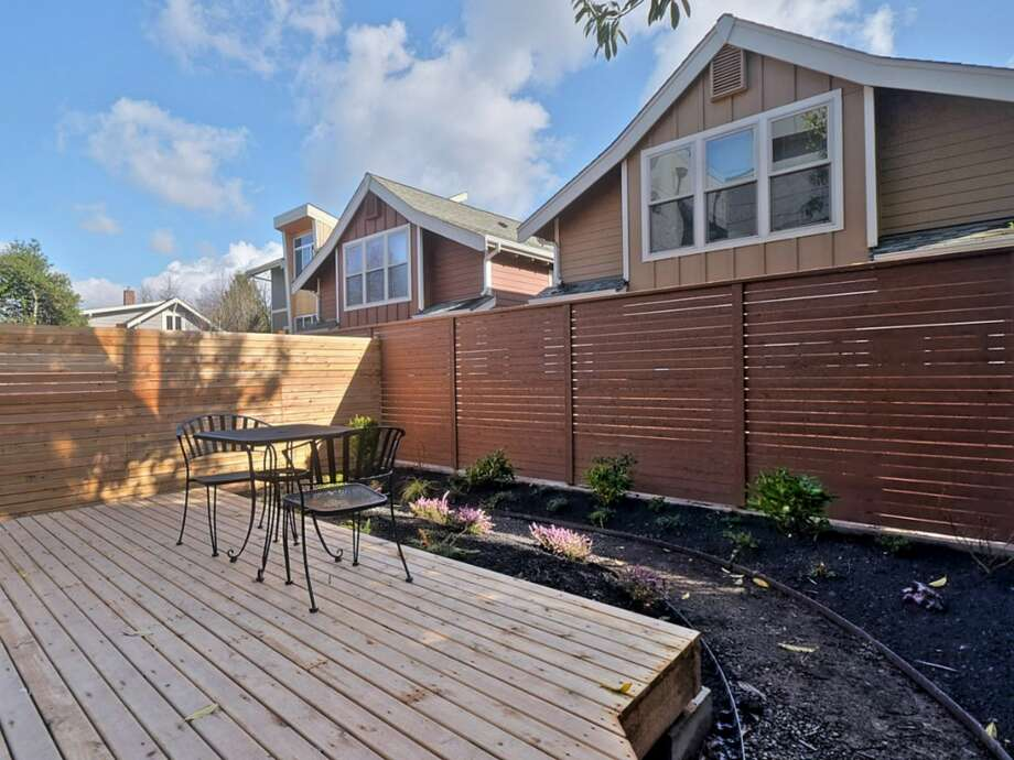Deck of 512 25th Ave. S. The 1,617-square-foot house, built this year, has three bedrooms, 2.25 bathrooms, a balcony and a patio. It's listed for $459,950. Photo: Courtesy      Kerri Donovan/Keller Williams Seattle Metro