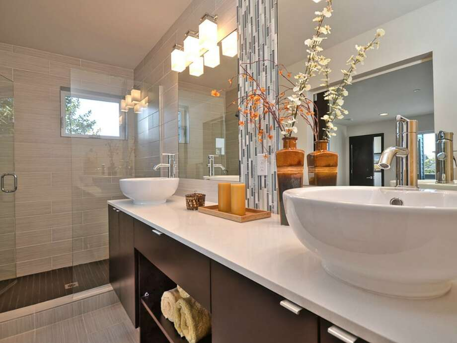 Master bathroom of 512 25th Ave. S. The 1,617-square-foot house, built this year, has three bedrooms, 2.25 bathrooms, a balcony, a deck and a patio. It's listed for $459,950. Photo: Courtesy      Kerri Donovan/Keller Williams Seattle Metro
