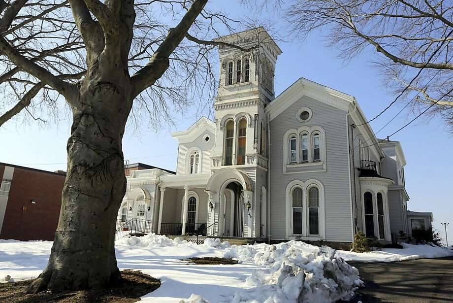 The rectory in Bridgeport, Conn., where diocesan workers say Catholic Monsignor Kevin Wallin, who was removed as pastor, hosted sex parties. Photo: Suzanne Dechillo, New York Times