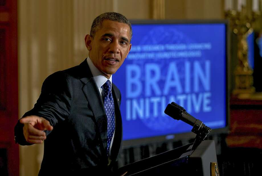 President Obama unveils his plan to map the human brain and find treatments for dozens of brain disorders and diseases. Photo: Doug Mills, New York Times