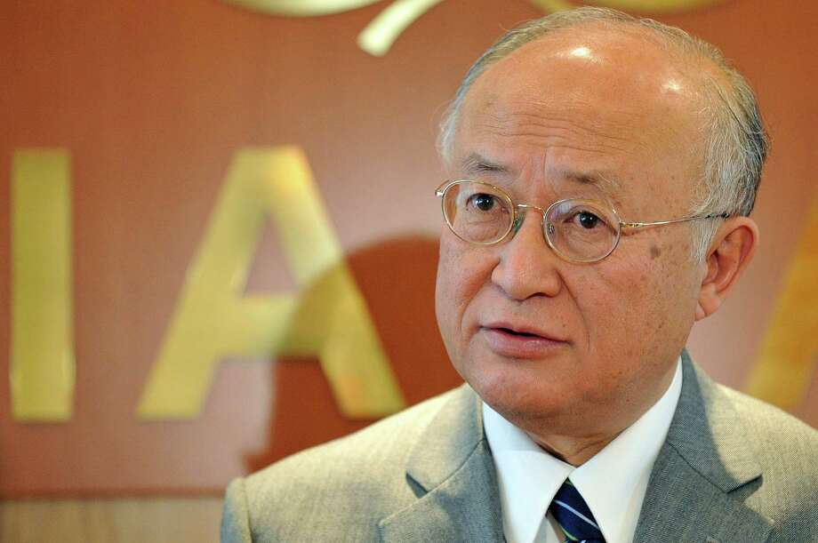 The Director General of the International Atomic Energy Agency, IAEA, Yukiya Amano of Japan is pictured during an interview at his office in Vienna, Austria, Tuesday, April 2, 2013. (AP Photo/Hans Punz) Photo: Hans Punz