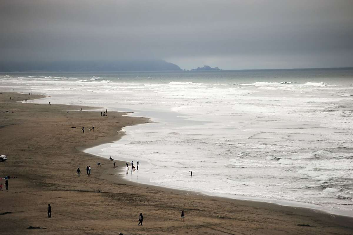 A file photo of Ocean Beach from the Cliff House in San Francisco.