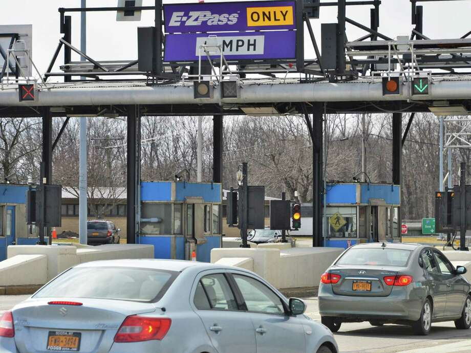 Thruway toll plaza at exit 23 in Albany Tuesday April 2, 2013.  (John Carl D'Annibale / Times Union) Photo: John Carl D'Annibale