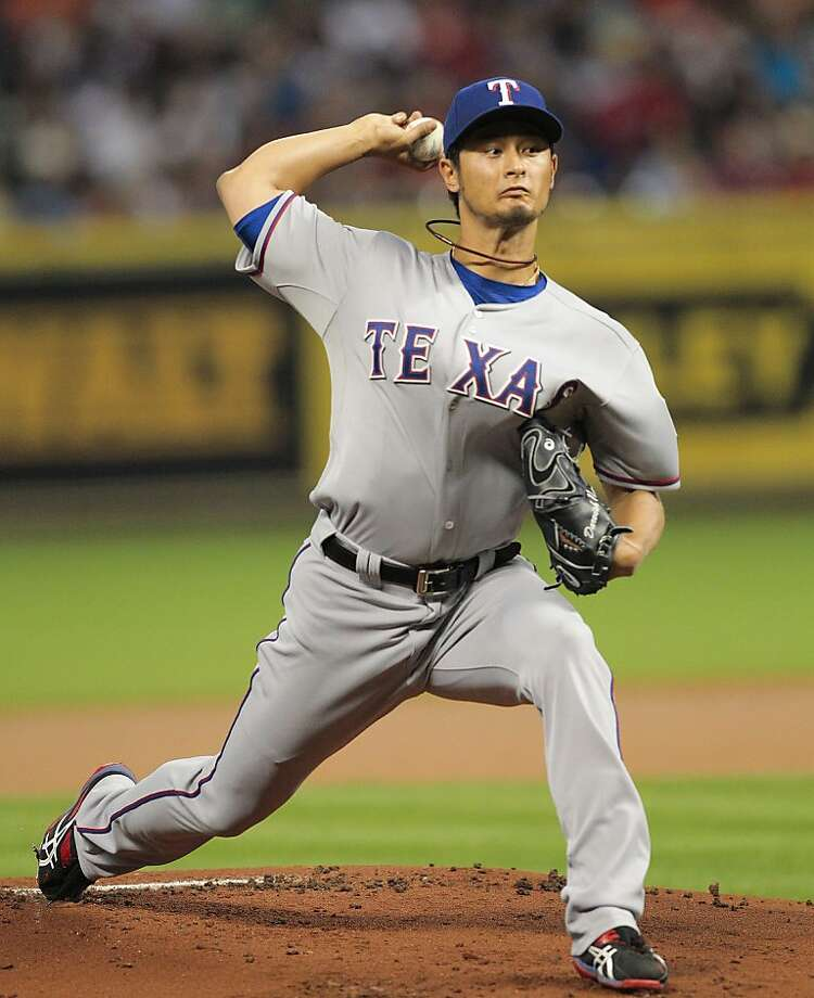Texas Rangers pitcher Yu Darvish. Photo: Bob Levey, Getty Images