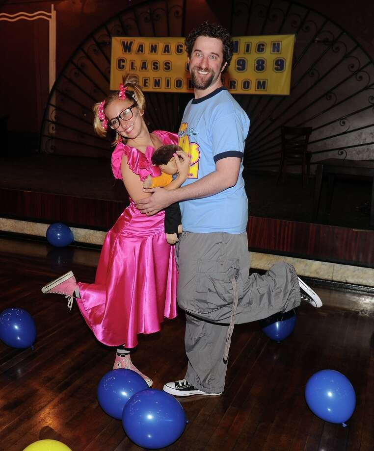 Actress Angie Blocher and actor Dustin Diamond join the cast of The Awesome 80's Prom at Webster Hall on May 21, 2010 in New York City. Photo: Stephen Lovekin, Getty Images / 2010 Getty Images