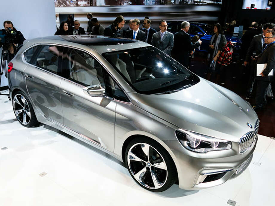 """BMW Active Tourer ConceptAnother Geneva visitor, the Active Tourer, previews the styling for an upcoming """"premium compact segment"""" car from BMW—what we assume will be the next 1-Series. It also shows a clear styling connection to both i3 concept cars that preview BMW's upcoming EV. As for the Active Tourer, it's powered by a three-cylinder engine mated to an electric motor that combine for a theoretical 95 mpg. Photo: Popular Mechanics"""