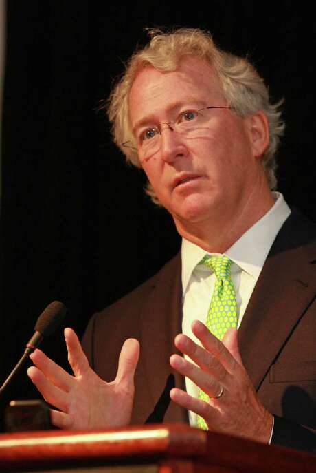 (For the Chronicle/Gary Fountain, June 10, 2010)  Chesapeake CEO Aubrey McClendon speaking at BENTEK's natural gas symposium. Photo: Gary Fountain, Freelance / Freelance