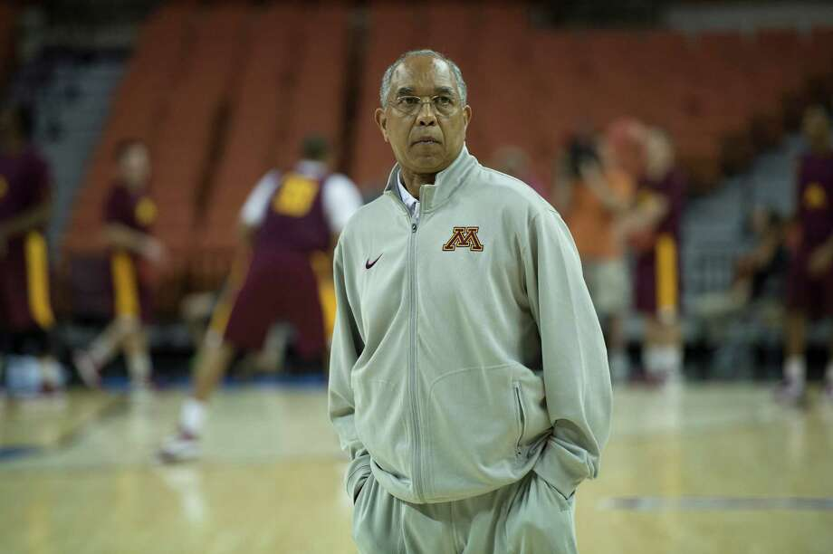 Head coach Tubby Smith of Minnesota watches his team practice on Thursday, March 21, 2013, in preparation for the team's game against UCLA on Friday in the NCAA Tournament. (George Bridges/MCT) Photo: George Bridges / MCT